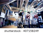 equipment  cables and piping as ... | Shutterstock . vector #407158249