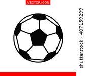 football ball icon.  | Shutterstock .eps vector #407159299