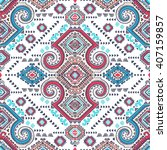 vector tribal mexican vintage... | Shutterstock .eps vector #407159857