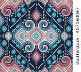 vector tribal mexican vintage... | Shutterstock .eps vector #407160067