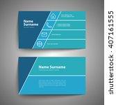 modern simple business card set ... | Shutterstock .eps vector #407161555