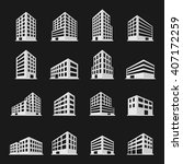 Buildings Icons Set. Vector...