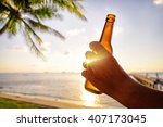 vacation concept. male hand... | Shutterstock . vector #407173045