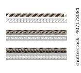 oriental pattern | Shutterstock .eps vector #407173081