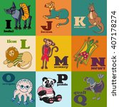 cartoon doodle animals  indri ... | Shutterstock .eps vector #407178274