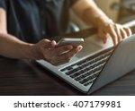 digital lifestyle blog writer... | Shutterstock . vector #407179981