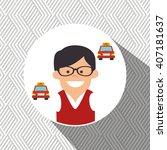 delivery service design  | Shutterstock .eps vector #407181637