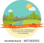 travel and adventure. beautiful ... | Shutterstock . vector #407182051
