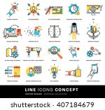 thin line icons set. business... | Shutterstock .eps vector #407184679