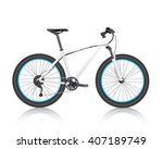 realistic mountain bike  white  ... | Shutterstock .eps vector #407189749