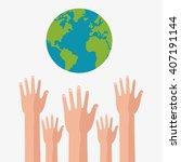 graphic design of help  ... | Shutterstock .eps vector #407191144