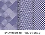 set of 3 abstract patterns.... | Shutterstock .eps vector #407191519