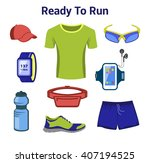 running gear for man. running... | Shutterstock .eps vector #407194525