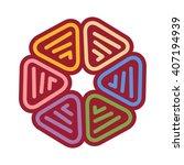 hexagonal motif. logo vector.   Shutterstock .eps vector #407194939