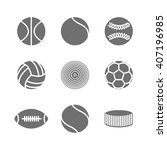 gray icons of various sports...