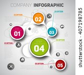 infographic for company deals.... | Shutterstock .eps vector #407198785