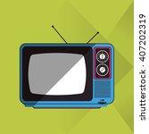 retro tv design   vector... | Shutterstock .eps vector #407202319