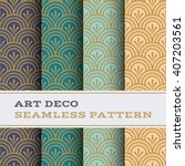 art deco seamless pattern with... | Shutterstock .eps vector #407203561