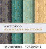 art deco seamless pattern with... | Shutterstock .eps vector #407204041