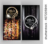 vip party  invitation card with ...   Shutterstock .eps vector #407205844