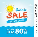summer sale heading design for... | Shutterstock .eps vector #407209081