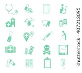 medical icon set cool color | Shutterstock .eps vector #407213095