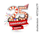 happy anniversary celebration... | Shutterstock .eps vector #407216179