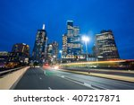 view of modern buildings and... | Shutterstock . vector #407217871