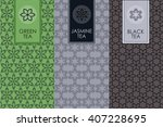 vector set of templates... | Shutterstock .eps vector #407228695
