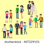 detailed character people.... | Shutterstock .eps vector #407229151
