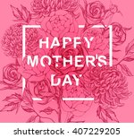 lettering happy mothers day....