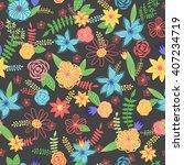 summer cute floral pattern ...   Shutterstock .eps vector #407234719