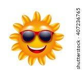 illustration cheerful face of... | Shutterstock .eps vector #407236765