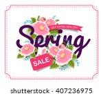 spring sale banner poster tag...   Shutterstock .eps vector #407236975