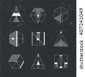 set of geometric shapes. trendy ... | Shutterstock .eps vector #407241049