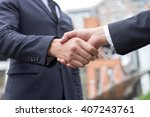 business confidence. close up... | Shutterstock . vector #407243761