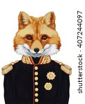Portrait Of Fox In Military...