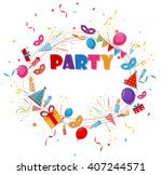 birthday celebration background ... | Shutterstock .eps vector #407244571