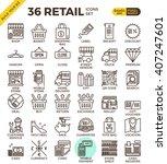 retail store pixel perfect... | Shutterstock .eps vector #407247601
