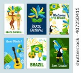 set of colorful posters  with... | Shutterstock .eps vector #407250415