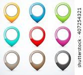 set of map pins | Shutterstock .eps vector #407254321