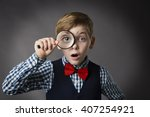 child see through magnifying... | Shutterstock . vector #407254921