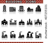 building icon set | Shutterstock .eps vector #407255101
