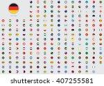 world flag illustrations in the ... | Shutterstock . vector #407255581