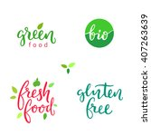 hand drawn healthy food... | Shutterstock .eps vector #407263639