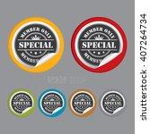 vector   circle special member... | Shutterstock .eps vector #407264734