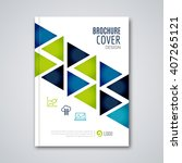 cover flyer report colorful... | Shutterstock .eps vector #407265121