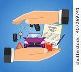 car insurance concept for... | Shutterstock .eps vector #407269741