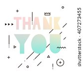 thank you text with elements of ... | Shutterstock .eps vector #407273455