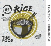 sketched style rice with... | Shutterstock .eps vector #407276461